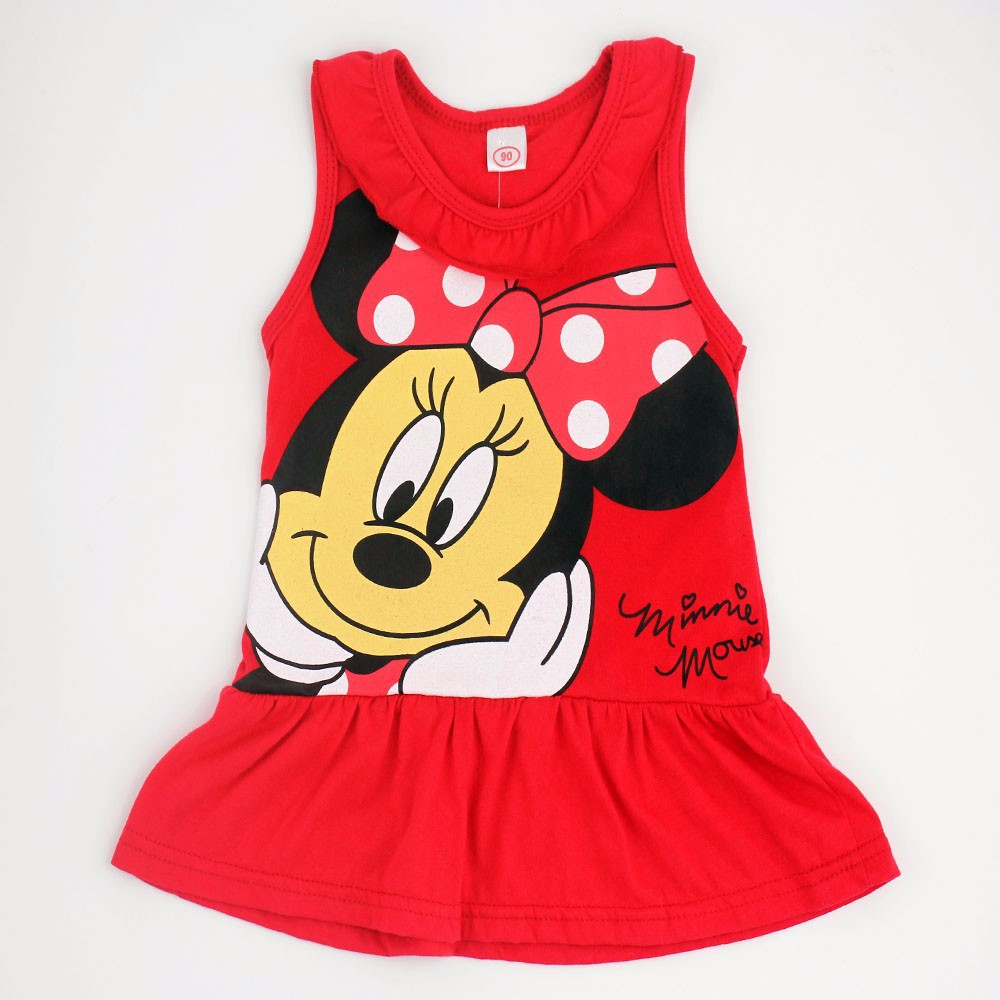 Minnie Mouse Dress Baby Girl Minnie DressKid Kitty Cat Party Dresses Summer Dress Vestido Minnie Robe Fille Enfant 6M-5Y