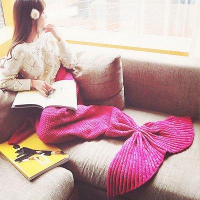 Mixture Crocheted / Knited Mermaid Tail Blanket