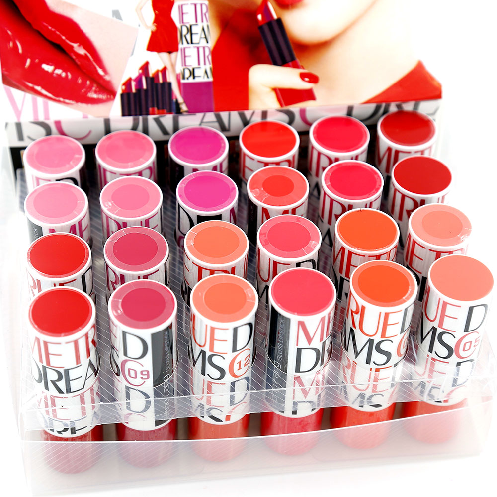 Lipstick Makeup Lipsticks Quality 24 pcs/lot 12 Colors Cosmetics Make Up Lipstick Set Lip Stick H9228