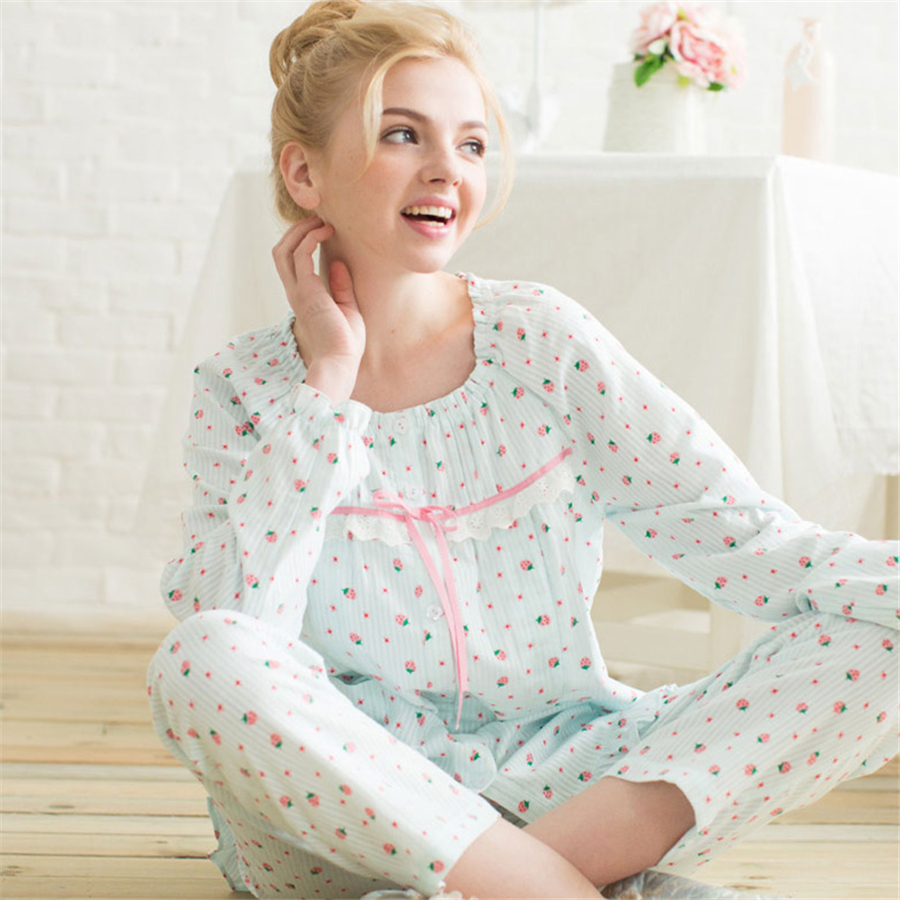 Cute Maternity Pajamas Set Pajamas Nursing For Pregnant Nightie Long Sleeve Soft Cute Cotton  Clothes Spring 60M0052