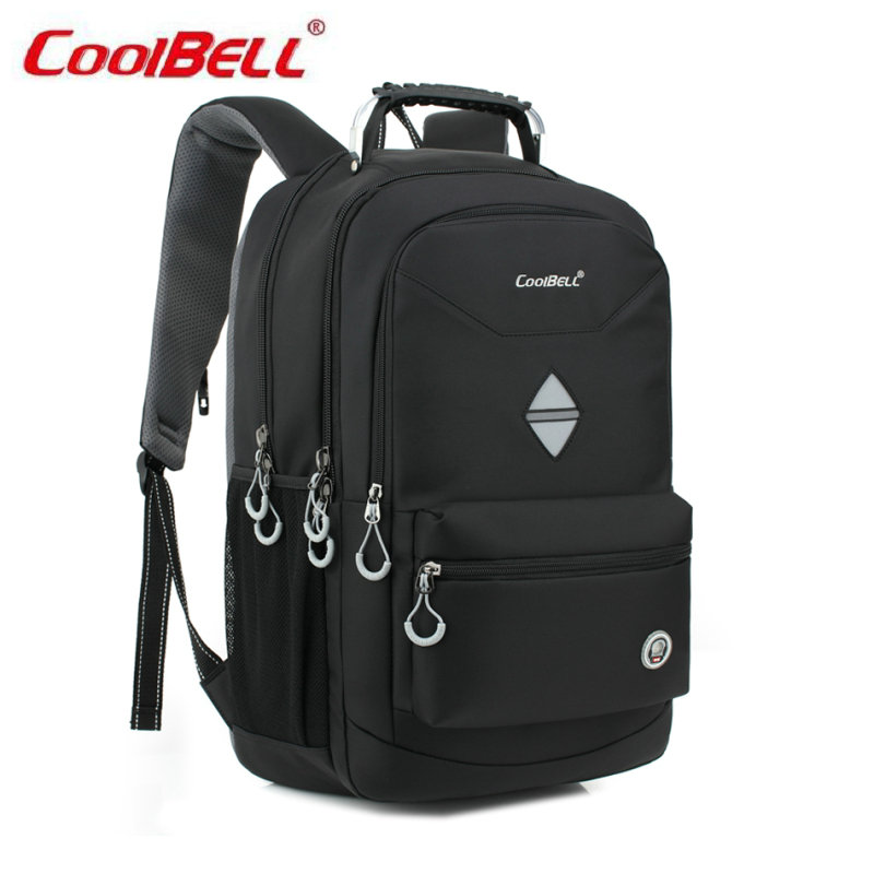 COOLBELL Nylon Backpack Men Laptop Male Backpack Bag for Teenagers School Computer Notebook Mochilas Daily Backpacks-FF