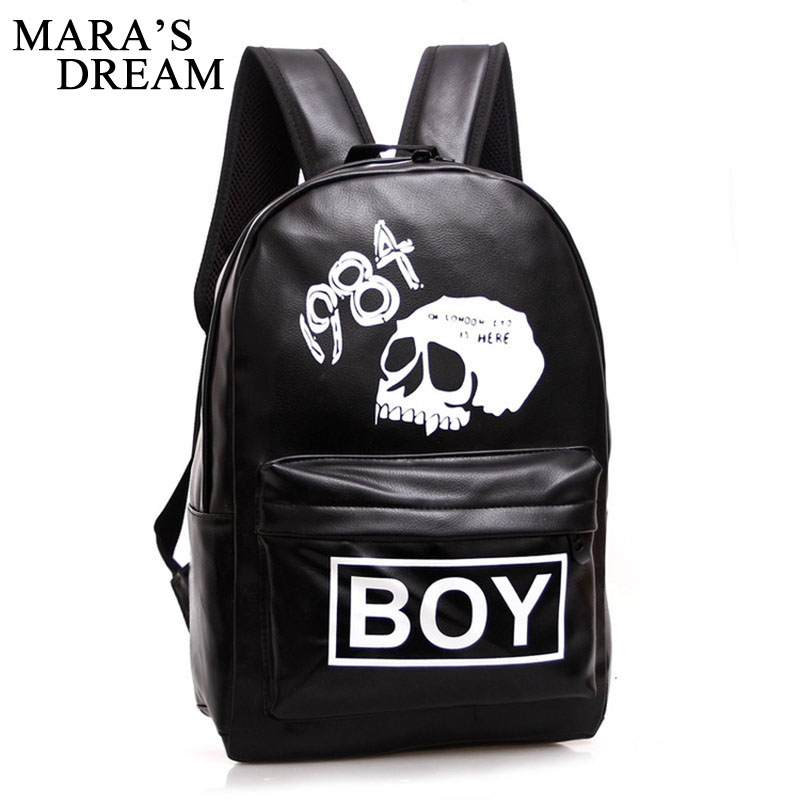 Mara's Dream Street Rock Backpack Men Punk Backpack  Skull Backpacking Bag For Teenager Boys School Bags Hip Hop Daily Backpacks