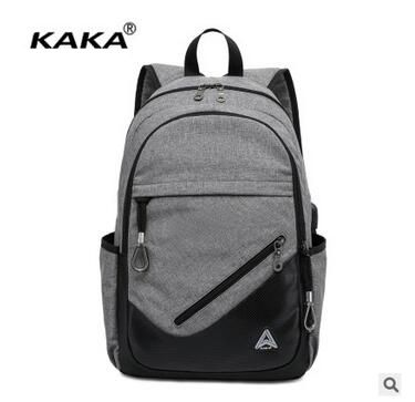 Brand KAKA Canvas Backpack Men School Bag Laptop Backpack School bag Daypack Racksacks Men Travel BackpackShoulder Bags rucksack
