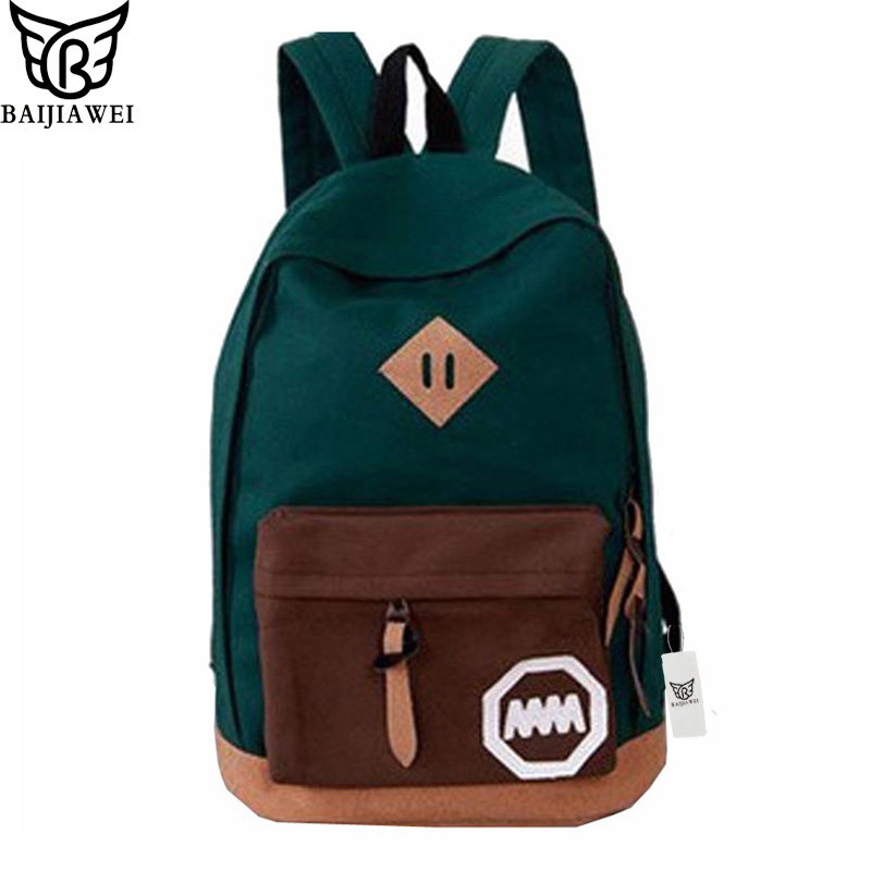 BAIJIAWEI Woman Backpack Hot Sale New Women School Bag Printing Backpack School Backpacks Fashion Canvas Backpacks Women's Bags