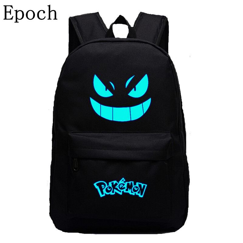 Epoch 2016 Galaxy Printing Backpack Pokemon Gengar Backpacks Emoji Flash Backpack School Bags For Teenagers School  Backpacks